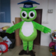 Large size green owl cartoon mascot costumes for sale