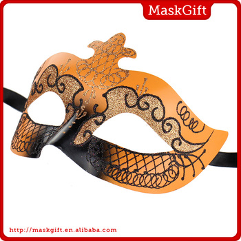 Cool look high quality plastic orange eye mask for party