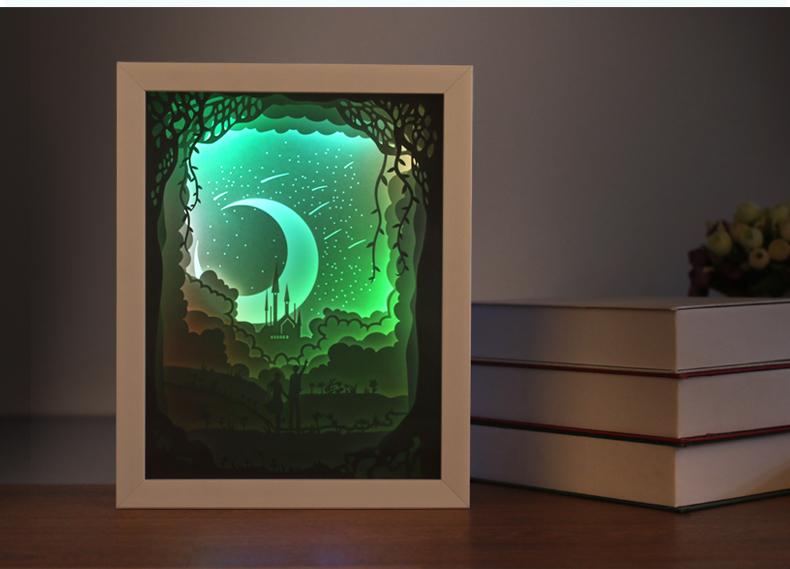 amazing paper cut light box 3d elegant dioramas inside