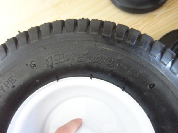 Garden trailer pneumatic rubber wheel for sale