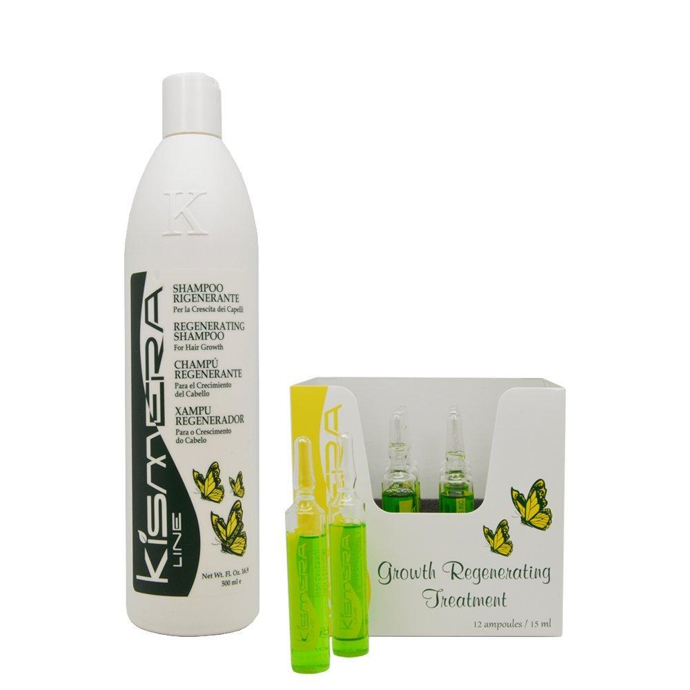 "Kismera Line Regenerating Shampoo & Treatment 12ampoules / 15ml each ""Set"""