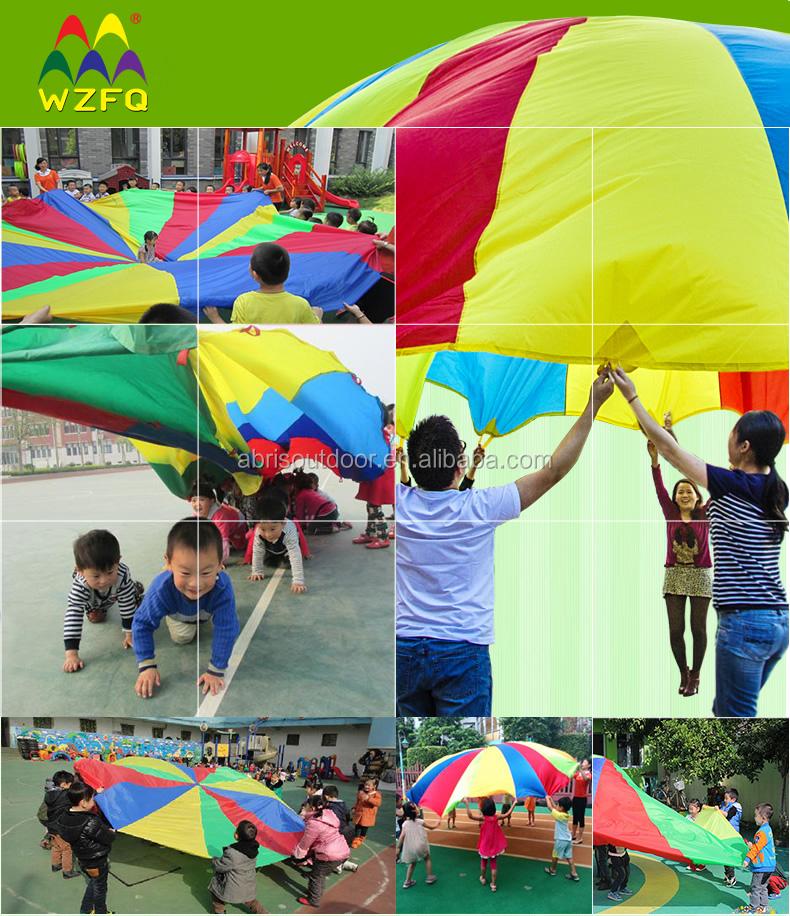 Rainbow Kids Play Parachutes For Preschool Or Daycares Teamwork ...