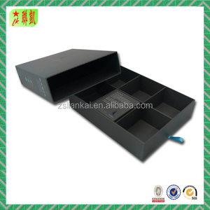 pull out drawer hot stamping cardboard paper box for packaging