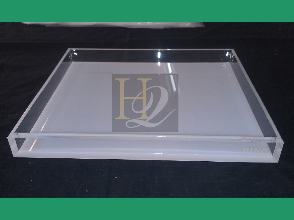 Square shape acrylic fruit display tray buy acrylic Square narrow shape acrylic