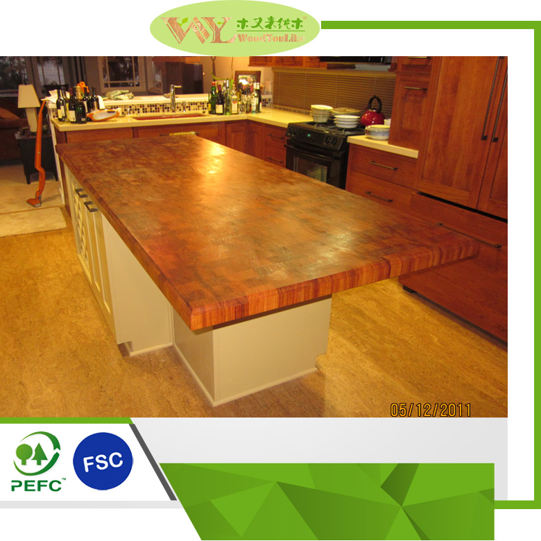 High Quality Oiled End Grain Teak Butcher Block Tops Wooden Butcher Block