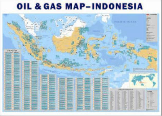 Indonesia Oil & Gas Map