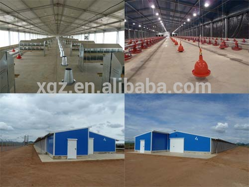 Structural house poultry house to feed on ground and in cages