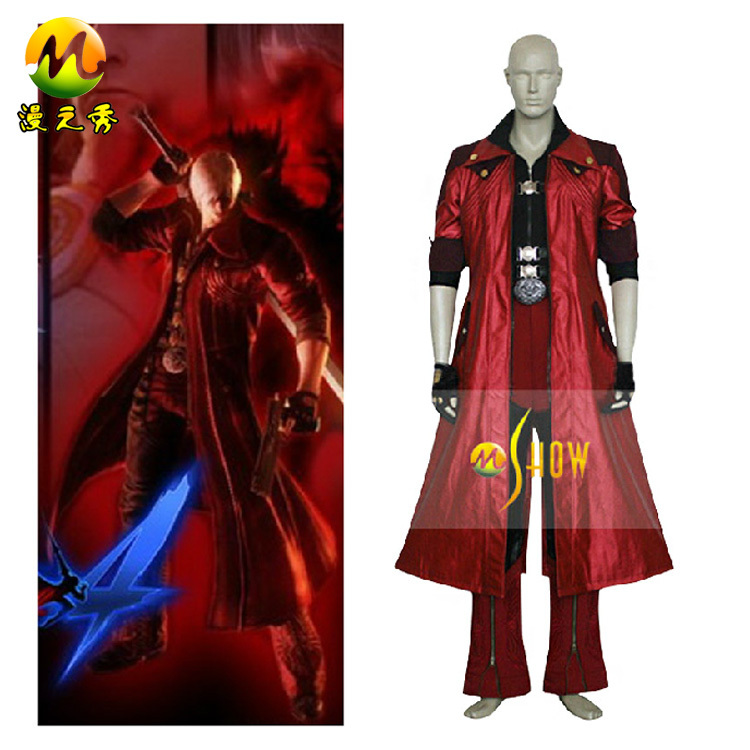 halloween party Japanese anime cosplay Devil May Cry IV 4 Dante Cosplay costumes custom made