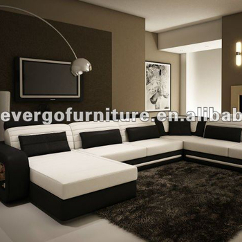 Modern Real Leather Sectional Sofa Living Room Furniture - Buy ...