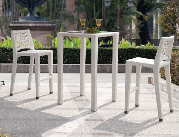 Rattan furniture top quality rattan wicker outdoor furniture bar sets bar stool