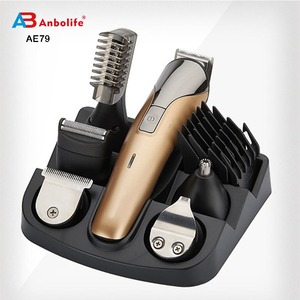 2017 Anbo Men's Grooming Kit T Blade Electric Hair Clipper and razor Hair blade trimmer disposable