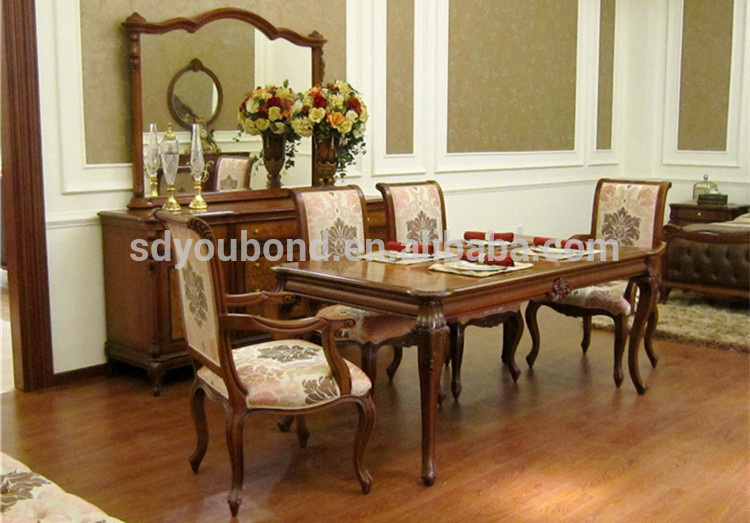 Latest Dining Table Designs 0051 Latest wood dining table set Italy dining table designs in wood