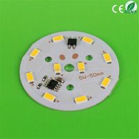 AC220V 5W 50mm Bright 10LEDs SMD5730 Round PCB LED Board (No Need Driver)