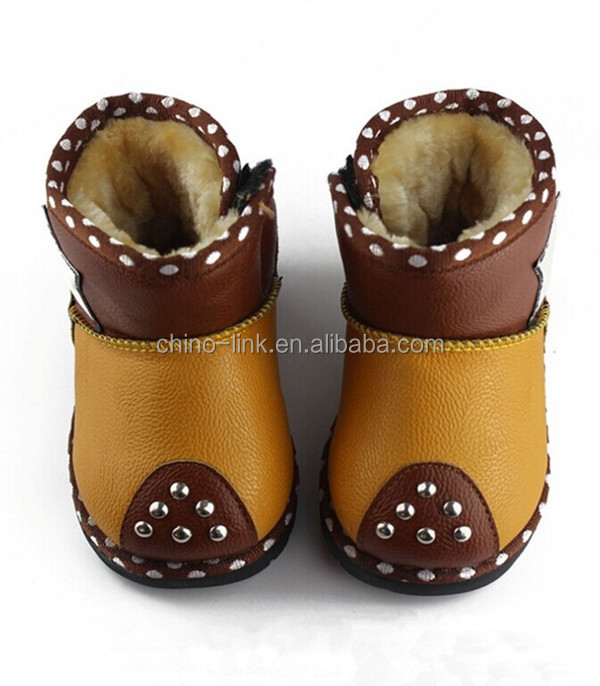 Lovely Squeaky Baby Snow Boots warm snow kids winter fur ankle boots