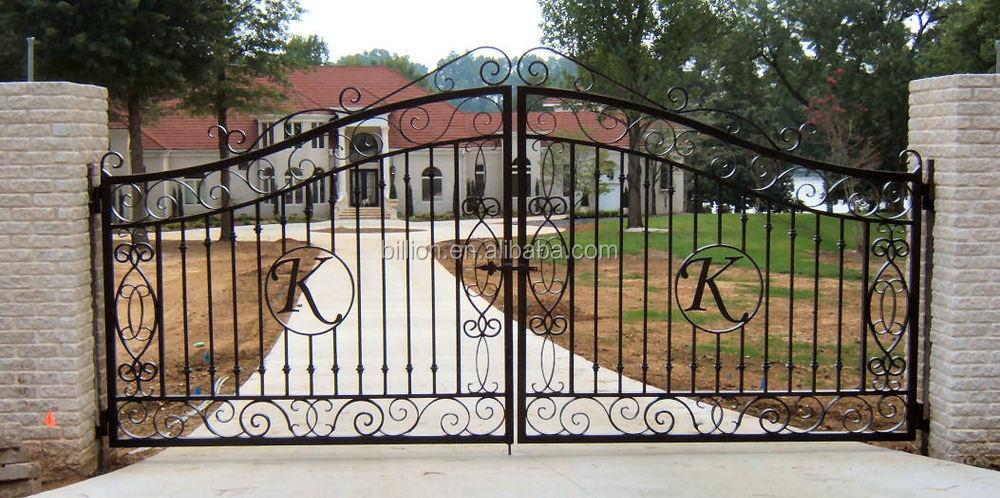 Top Selling Powder Coated Steel Pipe Gate Design
