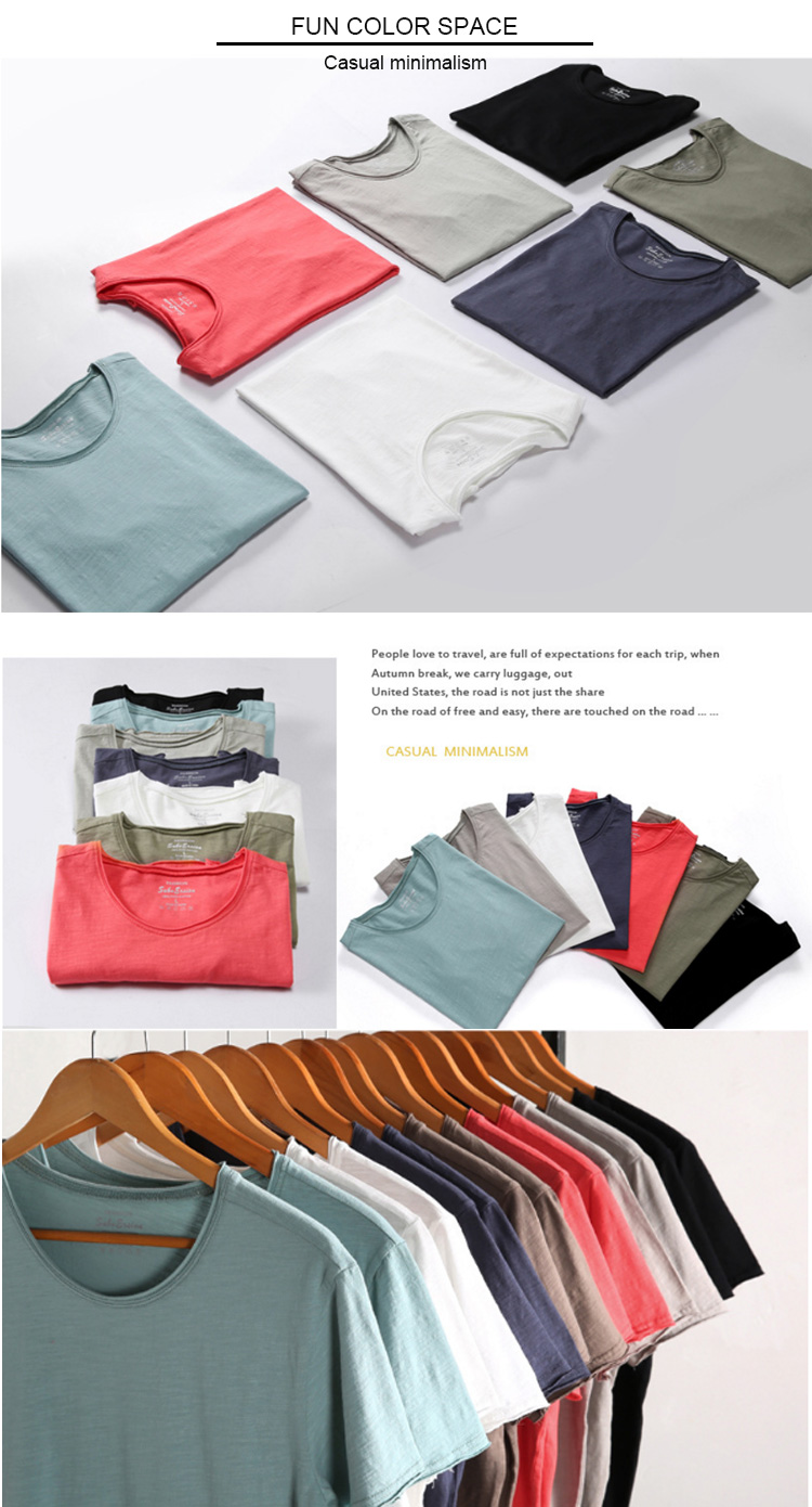 New goods various size and color available 100% cotton t-shirt blank style custom t-shirts for man