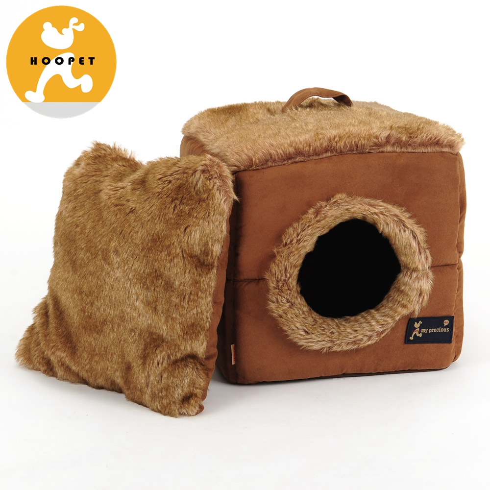Luxury Pet Bed Brown Cat Kennels With A Handle
