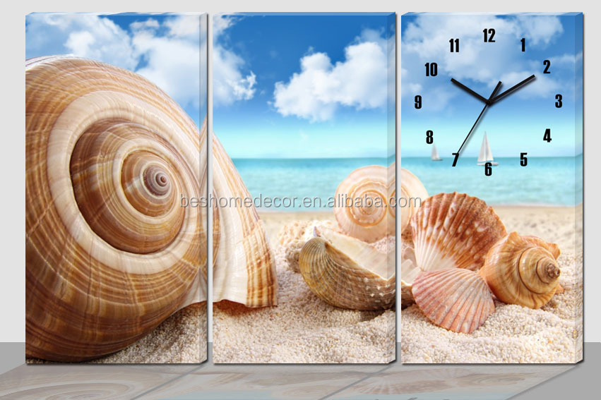 Orologi Da Parete In Tela : Grande orologio da parete conchiglia tela orologio pittura su tela