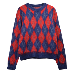 African Kitenge Dress Designs Wholesale Sweater Women's Wool High Quality Cheap Pullover Knitting Long Sleeve Jacquard Sweater