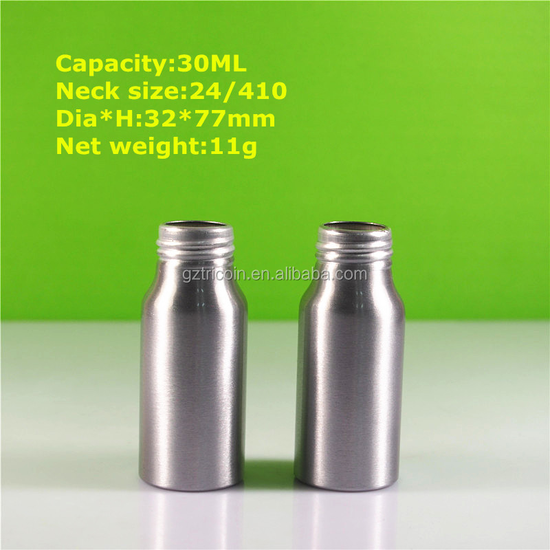 1 oz cosmetic aluminum <strong>bottle</strong> 30ml