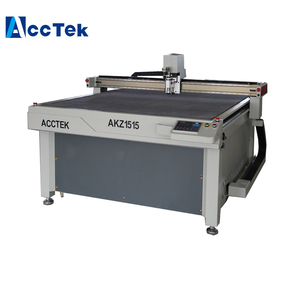 Jinan AccTek CNC Oscillating Knife Leather Cutting Machine cardboard cutter Vibrating Knife Cutting Machine With Low Price