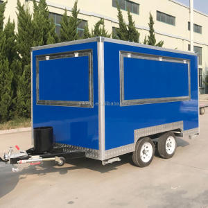 stainless steel mobile food stall concession trailers for sale