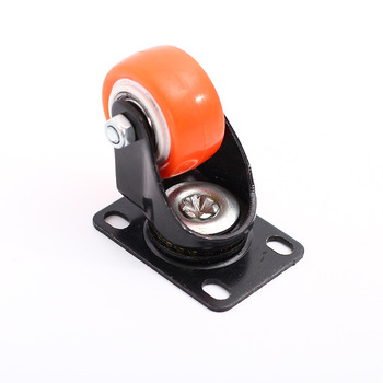 China produces PVC shopping cart casters, furniture wheels.