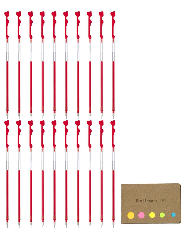 Pilot Hi-tec-c Coleto Gel Ink Pen Refill, 0.5mm, Red Ink, 20-pack, Sticky Notes Value Set