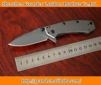 KS 1555TI Pocket EDC Folding Knife Cryo Hinderer design titanium carbo-nitride coated Pocket knife 6343