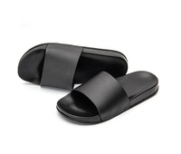 Wholesale OEM Logo new design PCU Flat And Anti-skip Blank Slide Sandals Plain custom mens rubber slippers