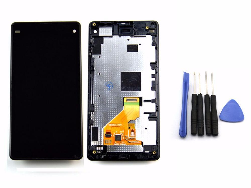 Черный для Sony Xperia Z1 Mini компактный D5503 M51w жк-дисплей сенсорный экран планшета монтажный комплект + шатона рама + инструмент