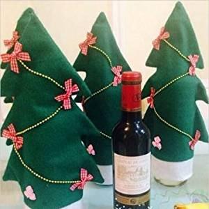 Christmas Santa Gift Christmas Tree Shape Bottle Sets Table Decoration