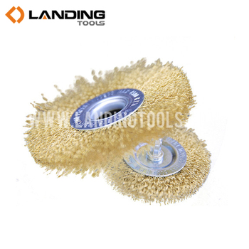Crimped steel Wire with brass plated circular steel wire brush