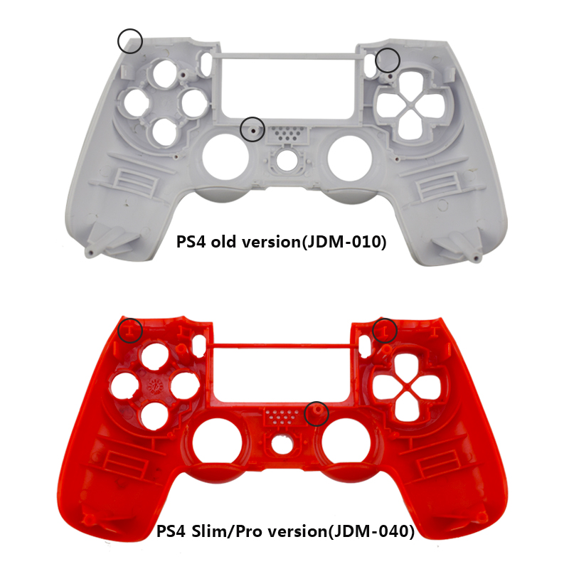 Replacement shell for PS4 Slim Pro controller Full Set shell and buttons repair for Dual Shock 4 Wireless Controller