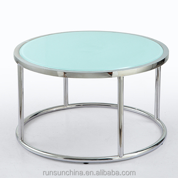 Round Glass Coffee Tables(SJ 168) Small Round Size Coffee Table