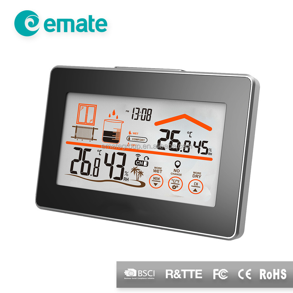 Big Size Display Rf Tech Wireless Touch Screen Weather Station ...