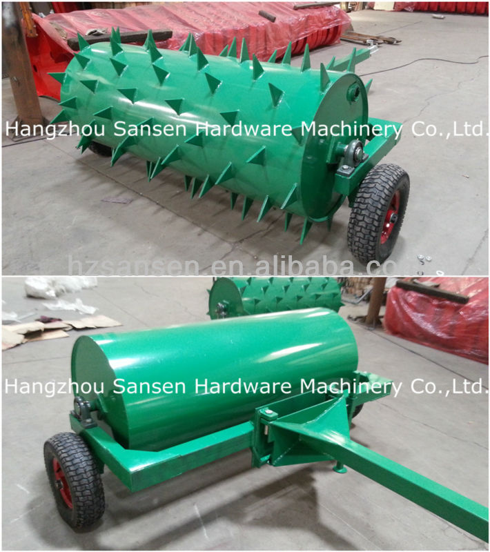 ATV Soil compactor roller paddock roller farm land ballast aerator roller for small compact tractors