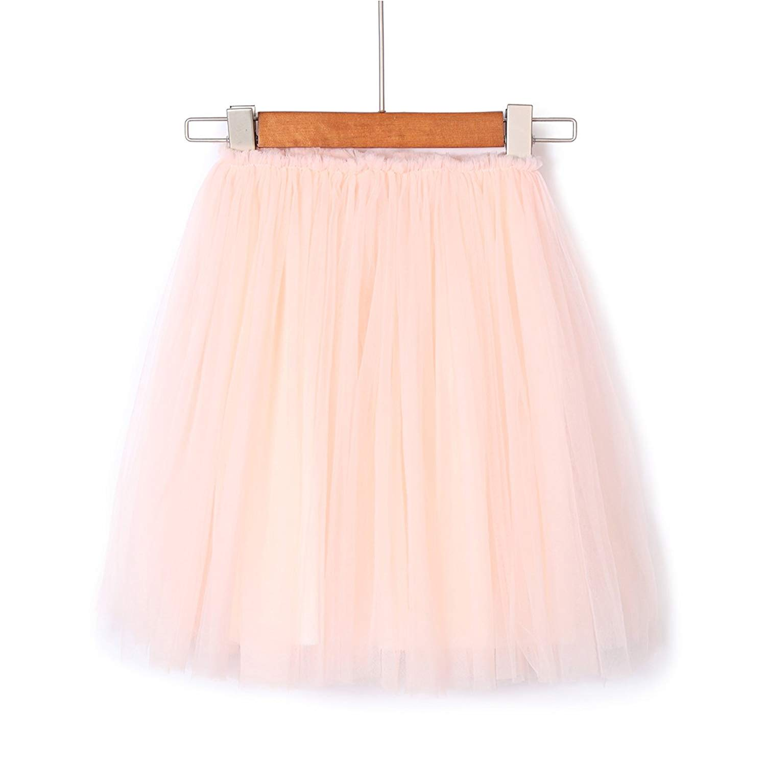Flofallzique Tulle Tutu Girls Skirt Mid Calf 1-9 Year Old Toddler Skirt Dancing Skirt Girls Clothes