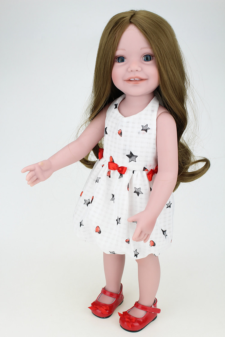 Brown Hair 18 Inch Doll Girl Princess Real That Looking