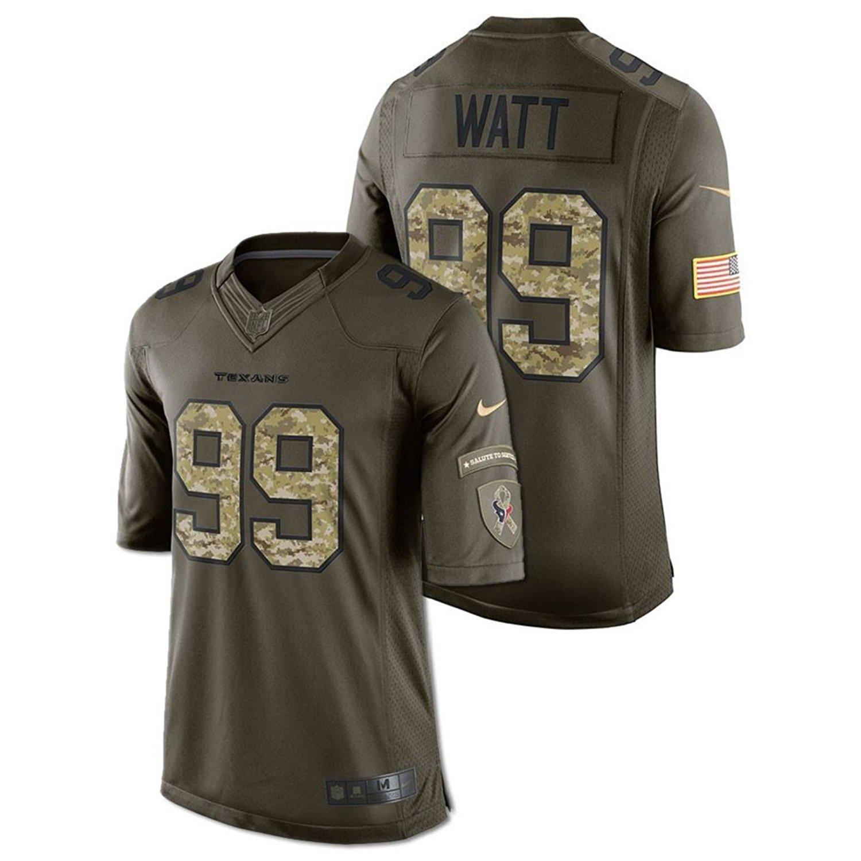 dbebf6135ff Get Quotations · Nike Men s Salute to Service Houston Texans JJ Watt  99  NFL Football Jersey