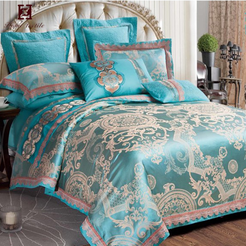wholesale jacquard king size bedding 100 cotton bed sheets changing pad cover set bedding with bedding pillow