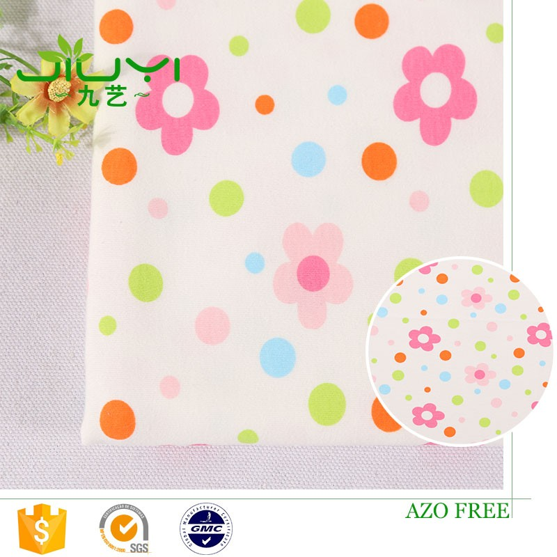 wholesale cheap custom flower 100% cotton knit interlock hand block print fabric