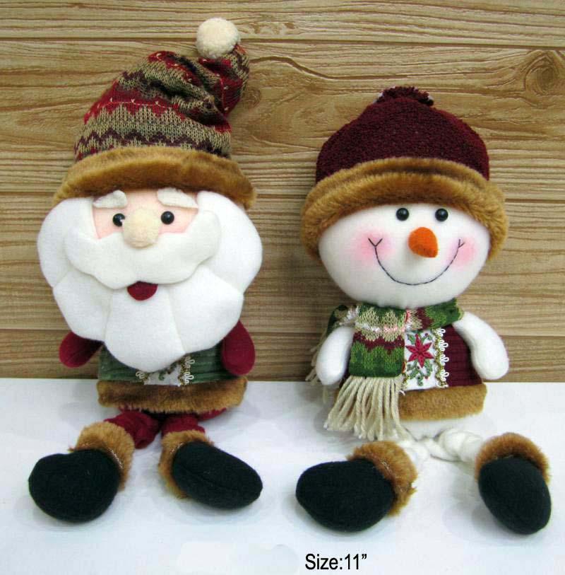 Christmas Santa And Snowman Handmade New Minion Christmas Plush