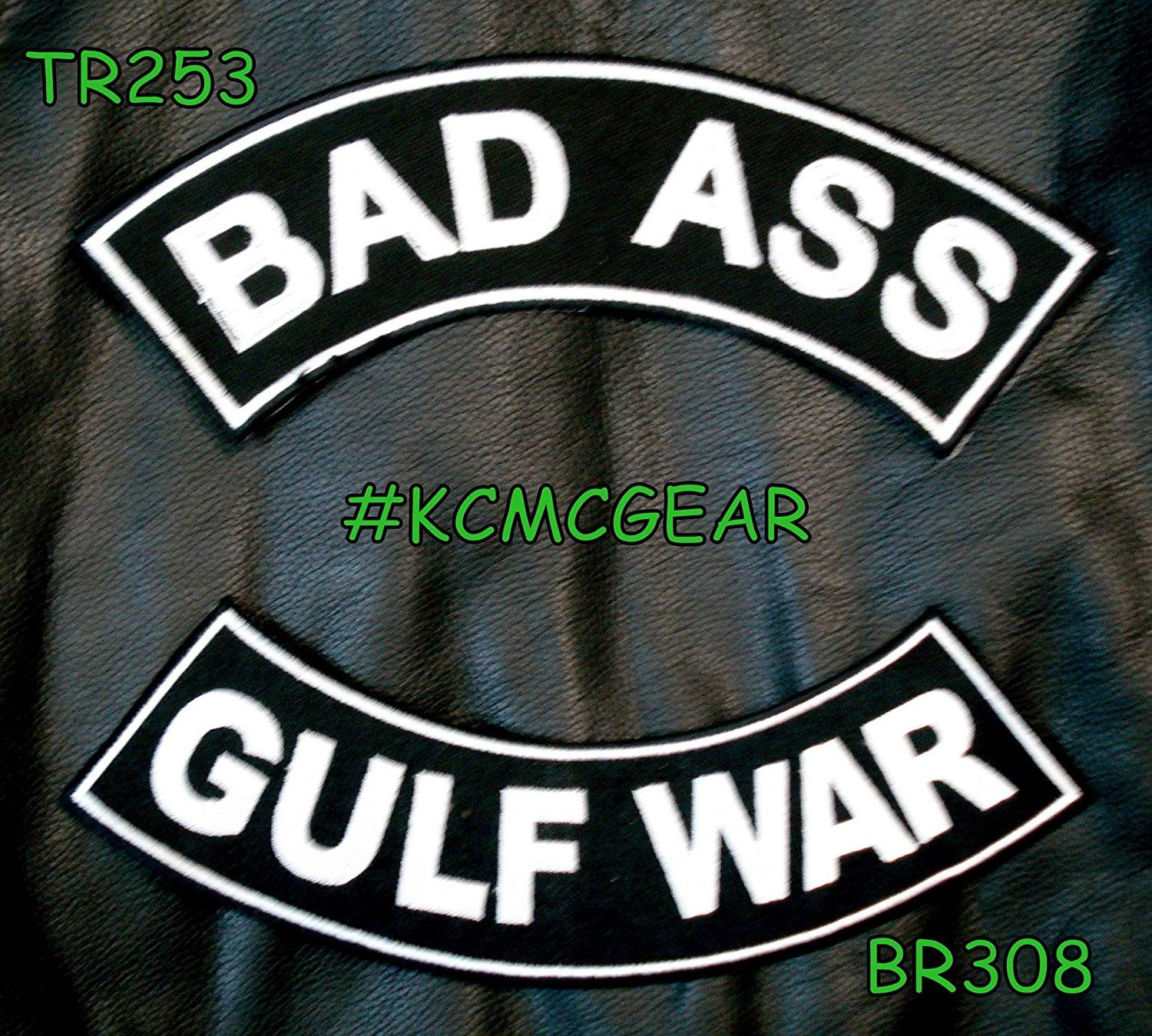 Military Biker Patch Set Bad Ass Gulf War Embroidered Patches Sew on Patches for Jackets