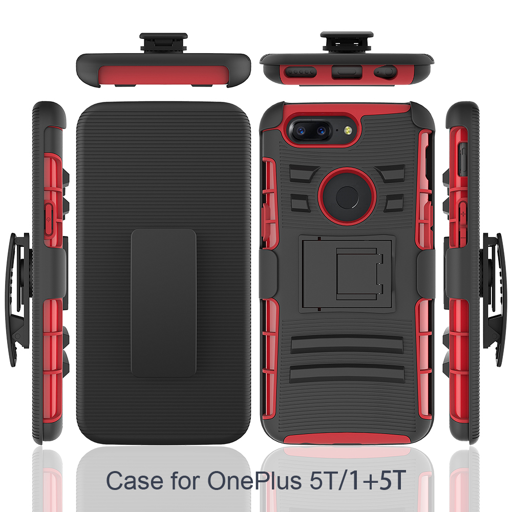 info for 12780 7e042 For One Plus 5t 360 Case Cover,Pc Tpu Mobile Case Shell With Kickstand And  Belt Clip - Buy For One Plus 5t Case Cover,Pc Tpu Mobile Case Shell For One  ...