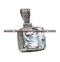 High Grade Glittering Brazilian Rock Crystal Jewellery KPJ251263-0 Pendants