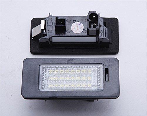 Led License Plate Light Lamp for BMW 1 3 5 Series x1 x3 x5 x6 M3 E39 E60 E90 by Hongyingcar 2Pcs 24 SMD Error Free
