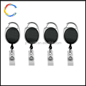 Retractable Badge Holder Carabiner Reel Clip On ID Card Holders