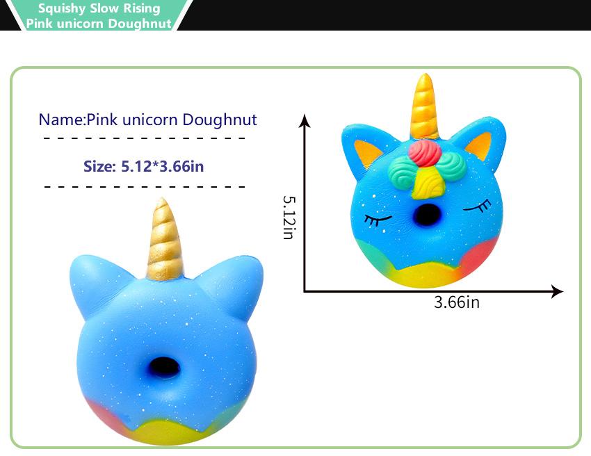 Sunei.f Cute Squishy Doll Unicornio en forma de espuma suave Extrusi/ón Fragante Kawaii Juguetes Descompresi/ón