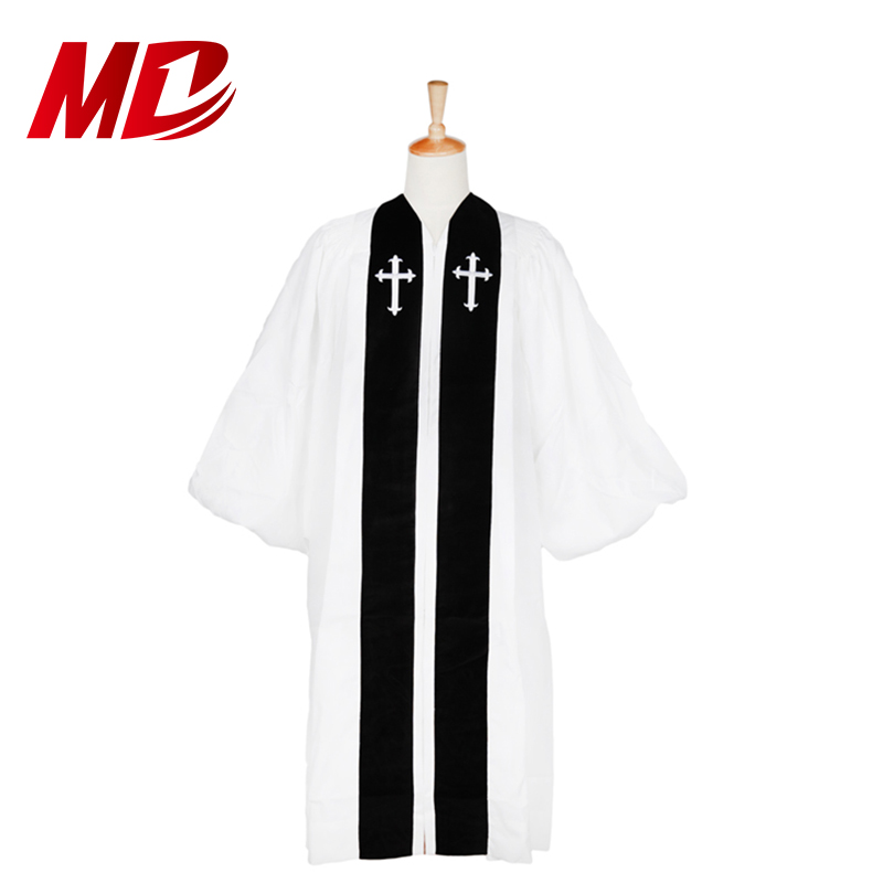 High Quality Choir Robes Church Dress Cassock Prayer Robes With Open Sleeves